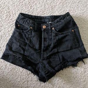 High Waisted Black Shorts